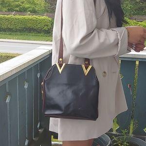 Vera Pelle vintage leather shoulder bag